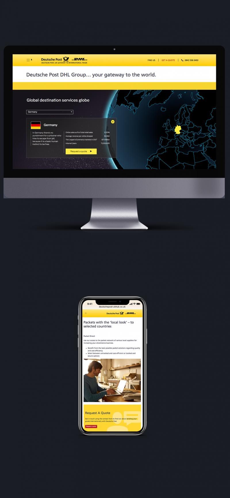 Deutsche Post Desktop and Mobile