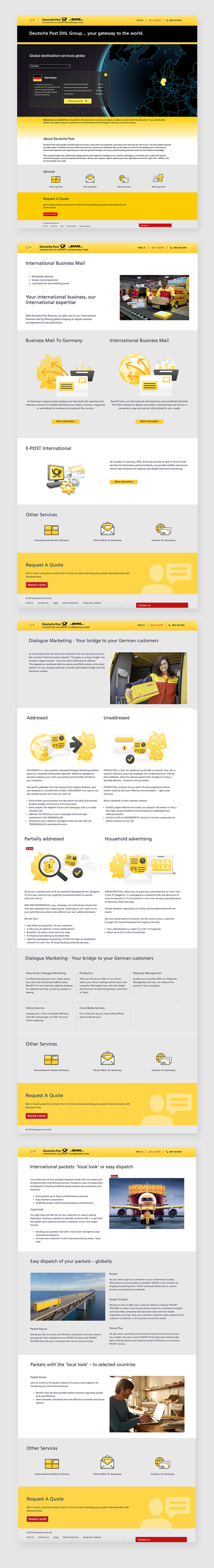 Deutsche Post Web Pages