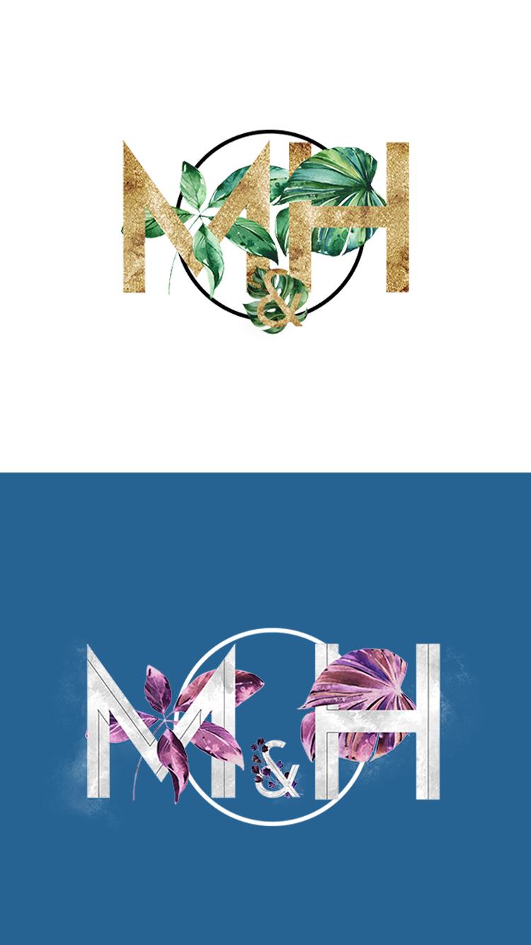 Marisa and Hugo Branding and Logo Design Mobile