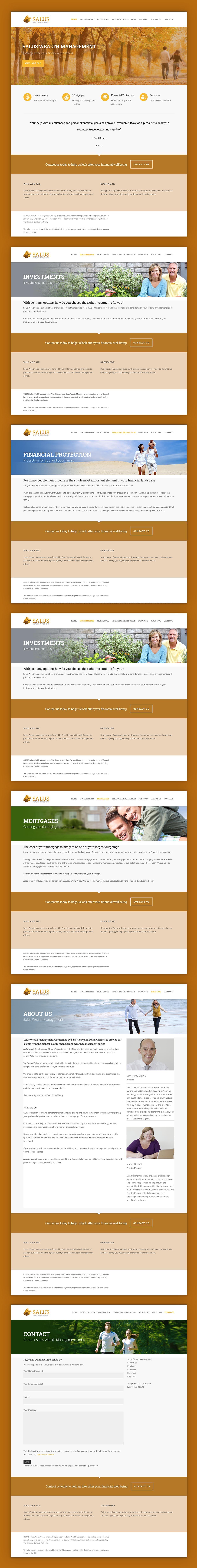 Salus Wealth Management Website Pages Mobile