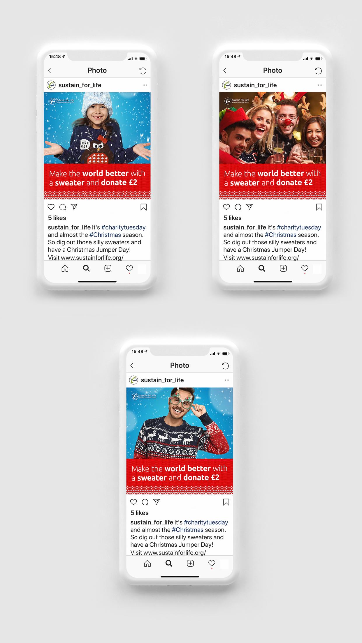 Sustain for Life Social Media Board Mobile Mockups Mobile